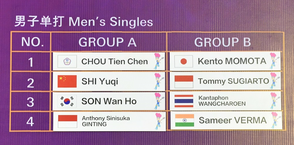 Tiga Grup Neraka di BWF World Tour Finals 2018